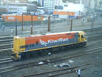 English: Locomotive in KiwiRail livery (not a ...