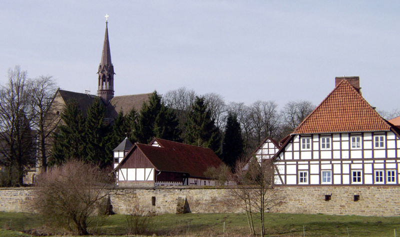 Loccum Abbey continued as a Lutheran monastery since the 16th century A.D. Kloster Loccum.jpg