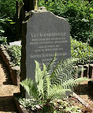 Leo Königsberger - His grave in Heidelberg