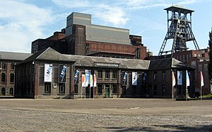 Beringen coal preparation plant - The Beringen coal washery behind the central offices