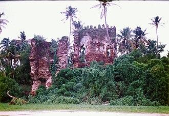 St Thomas Fort, Tangasseri - Image: Kollam Fort 1 nochmals verbessert JS