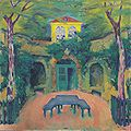 Kolo Moser - Gelbes Haus in Landschaft - 1911.jpeg
