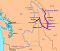Kootenay River map with states and provinces.png