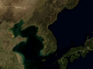 United Nations Security Council Resolution 82 - Satellite view of the Korean Peninsula