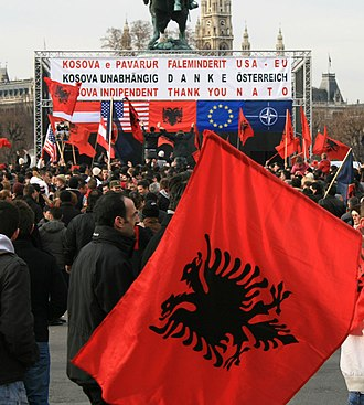 2008 Kosovo declaration of independence - Celebration of the declaration of independence of Kosovo in Vienna, Austria