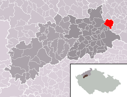 Location of Koštice