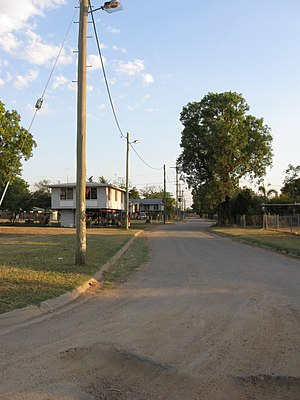 Kowanyama, Queensland - View down Ogimburngk St (from Gilbert St)