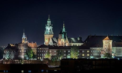 Krakow - Wawel - nocny pejzaz 02