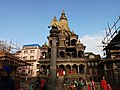Krishna Mandir and the idol of Garuda in front.jpg
