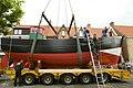 Kustvissersvaartuig OD.1 Martha wordt overgebracht naar het nieuwe Nationaal Visserijmuseum te Oostduinkerke - 372715 - onroerenderfgoed.jpg