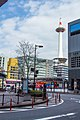 Kyoto Tower seen from Kyoto Station.jpg