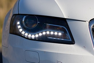 Automotive lighting - LED daytime running lights on Audi A4