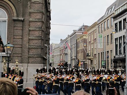 The Central Royal Military Band of the Netherlands Army is one of eight active military bands in the Netherlands. LG Prinsjesdag 2013 08.JPG