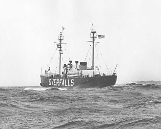 United States lightship Relief (WLV-605) - Serving as WLV-605 at Overfalls