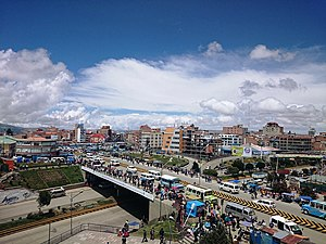 El Alto and Huayna Potosi mountain