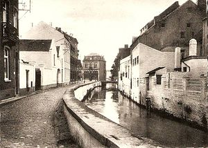 Waterloo Campaign: Ligny through Wavre to Waterloo - The Dyle river in Wavre (early 20th century).