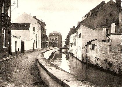 The Dyle river in Wavre (early 20th century). La Dyle a Wavre (2).jpg