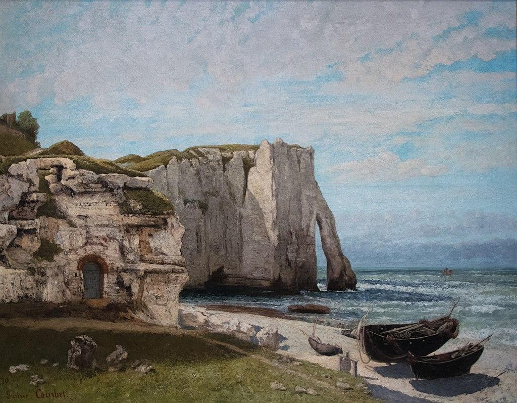 La Falaise d'Étretat après l'orage - Gustave Courbet