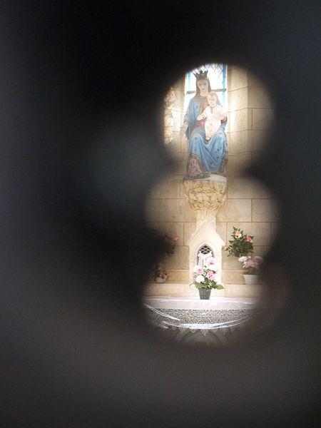L'intérieur vu de la serrure.