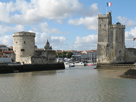 The entrance of the Old Port of La Rochelle