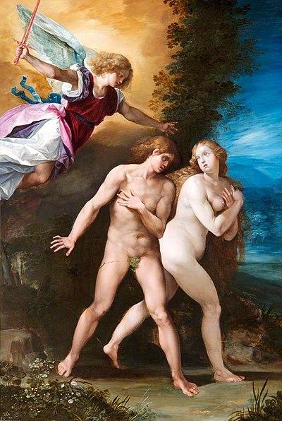 Adam och Eva fördrivs från Edens lustgård