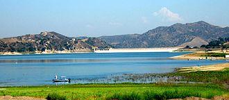 Santiago Creek - Lake Irvine looking northwest towards the dam