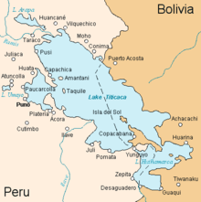 Mapa do Lago Titicaca
