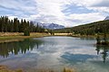 Lake on the way to Banff (8034044748).jpg