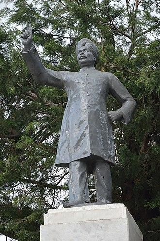 Lala Lajpat Rai - The statue of Rai at Shimla, Himachal Pradesh.