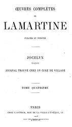 Alphonse de Lamartine: Jocelyn