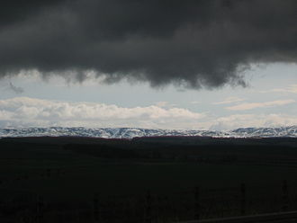 Lammermuir Hills - The Lammermuirs in the winter of 2009