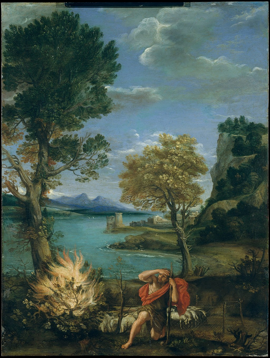 모세와 불타는 떨기나무의 모습 (도메니코 잠피에리, 1610~1616년)