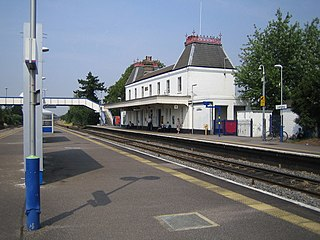 Langley railway station Railway station in the English town of Slough