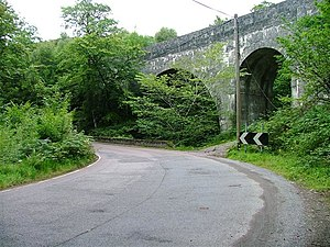 A830 road - The A830 next to Larichmore Viaduct in 2005, when it was still a single-track road