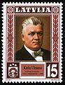 Latvia stamp K.Ulmanis 2001 15l.jpg