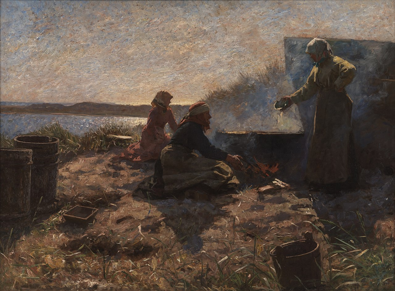 Laurits Tuxen, Trankogning ved Nymindegab, 1878 - 1879, KMS3202, Statens Museum for Kunst.jpg