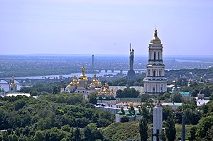 Kiev Pechersk Lavra - Panorama of the monastery (southward view)
