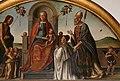 Lazzaro bastiani, madonna col bambino in trono tra santi e il donatore giovanni degli angeli, 1484, 03.jpg