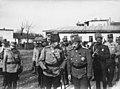 Le roi de Roumanie, le général Sakharoff, le général Belaeff et le général Berthelot - Buzau - Médiathèque de l'architecture et du patrimoine - AP62T099818.jpg