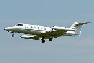 Learjet 35 - Learjet 35 landing