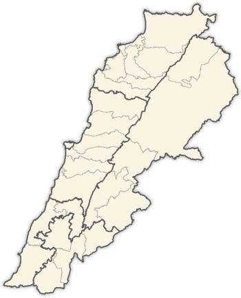 أقضية لبنان