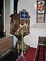 Lectern by the pulpit - geograph.org.uk - 1761004.jpg