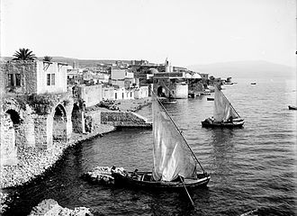 Lewis Larsson - A photo of Tiberias, Palestine, taken between 1898 and 1914 by Lewis Larsson.  Source:  Library of Congress.