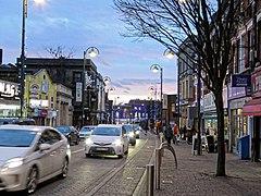 Luzes de Natal de Leytonstone High Road, Londres, Inglaterra 02.jpg