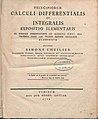 Lhuilier, Simon Antoine Jean – Principiorum calculi differentialis et integralis expositio elementaris, 1795 – BEIC 749741.jpg