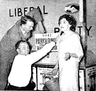 Liberal Party of South Africa - Workers posters in Sea Point during the 1959 provincial election campaign