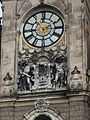 Liberec town hall - clock and CoA.JPG