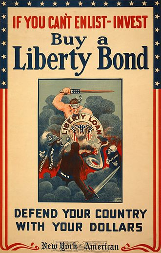 Propaganda techniques - World War I poster by Winsor McCay, urging Americans to buy Liberty Bonds