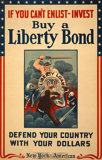 A United States poster advertising World War I...