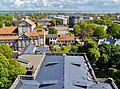 Liepaja Blick von der evangelischen Dreifaltigkeitskathedrale aufs Kirchendach.JPG